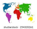 political map of the world.... | Shutterstock .eps vector #254320261