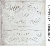 calligraphic decorative... | Shutterstock .eps vector #254321149