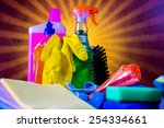 cleaning theme  saturated... | Shutterstock . vector #254334661