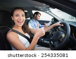 young woman getting a driving... | Shutterstock . vector #254335081