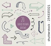 hand drawn arrows set for... | Shutterstock .eps vector #254335321