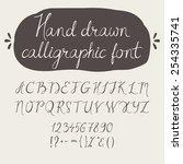 alphabet. hand drawn letters.... | Shutterstock .eps vector #254335741