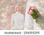 Man Hiding Bouquet Of Roses...
