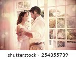 side view of a loving young... | Shutterstock . vector #254355739