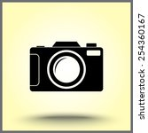 photo camera sign icon  vector... | Shutterstock .eps vector #254360167