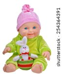 Baby Doll With Easter Rabbit...