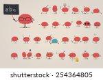 brain character set | Shutterstock .eps vector #254364805
