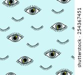Eye Pattern With Eyelash In...