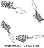 carrots   Shutterstock .eps vector #254371705