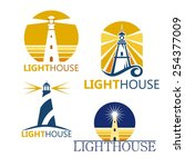 colorful lighthouse symbols set ...   Shutterstock .eps vector #254377009
