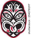 vector illustration of a maori... | Shutterstock .eps vector #254378197