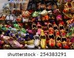 handmade turkish shoes for sale ... | Shutterstock . vector #254383291