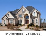 Large New Luxury Home - stock photo
