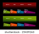 easy to edit stylish website... | Shutterstock .eps vector #25439263