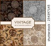 seamless vintage floral...   Shutterstock .eps vector #254397145