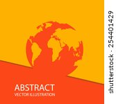 global earth planet abstract... | Shutterstock .eps vector #254401429