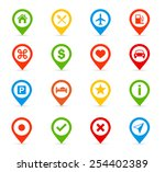 navigation icons   illustration ... | Shutterstock .eps vector #254402389