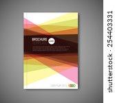 modern vector abstract brochure ... | Shutterstock .eps vector #254403331