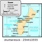 guam map | Shutterstock .eps vector #254413555