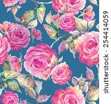 roses seamless pattern  | Shutterstock . vector #254414059