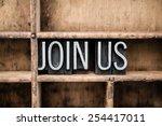 "the words ""join us"" written in... | Shutterstock . vector #254417011"
