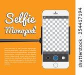 selfie monopod  self portrait... | Shutterstock .eps vector #254417194