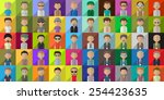 flat men icons   isolated on...
