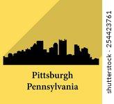 pittsburg  pennsylvania   Shutterstock .eps vector #254423761
