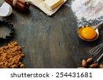 baking  ingredients   flour ... | Shutterstock . vector #254431681