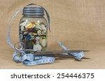 Blue Mason Jar With Zinc Lid...