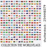 flags vector of the world  | Shutterstock .eps vector #254448379