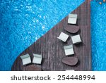 chair relax on in holiday... | Shutterstock . vector #254448994