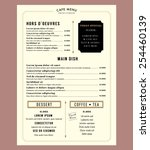 menu design template layout... | Shutterstock .eps vector #254460139