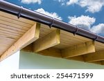 Part Of Roof With Wood Rafters...