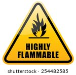 flammable warning sign  highly... | Shutterstock .eps vector #254482585