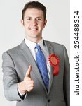 portrait of politician reaching ... | Shutterstock . vector #254488354