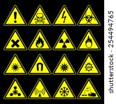 triangular warning hazard... | Shutterstock .eps vector #254494765