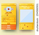ui template for mobile phone or ...