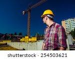 real engineer wearing... | Shutterstock . vector #254503621