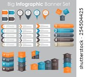 big set of infographic banner... | Shutterstock .eps vector #254504425