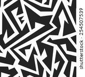 monochrome tribal seamless... | Shutterstock . vector #254507539