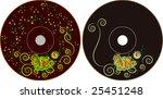cd   dvd label design | Shutterstock .eps vector #25451248