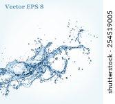 blue water splash  vector... | Shutterstock .eps vector #254519005