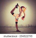 Clown In A Pose Extravagant An...