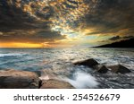 Sunset Wave Rock Beach