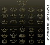 set of crowns in different... | Shutterstock .eps vector #254536915