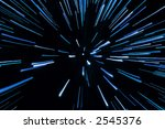 fireworks in blue | Shutterstock . vector #2545376