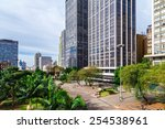 anhangabau valley in sao paulo  ... | Shutterstock . vector #254538961