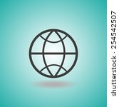 globe earth vector icon   Shutterstock .eps vector #254542507