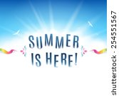 square shaped summer background ... | Shutterstock .eps vector #254551567